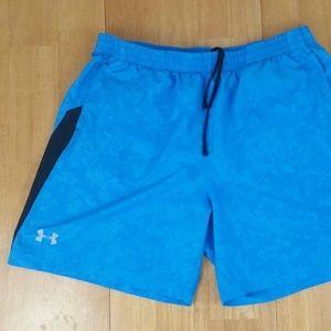 Under Armour Men's Heat Gear Blue Fitted Shorts XL